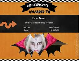 halloween certificate templates add a photo of the recipient in