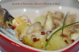 cuisiner boudin blanc cassolette de boudin blanc au chaource à la moutarde de reims