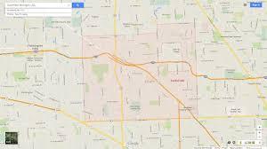 Maps Of Michigan Southfield Michigan Map