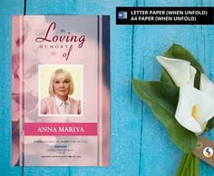 funeral program templates on pinterest downloadable editable in