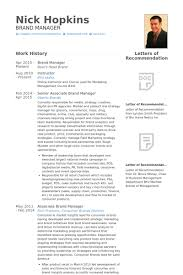 Senior Project Manager Resume Sample by Brand Manager Resume Samples Visualcv Resume Samples Database