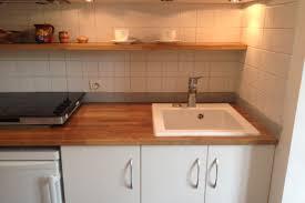 plan de travail cuisine chene massif cuisine avec plan de travail en chêne massif premium