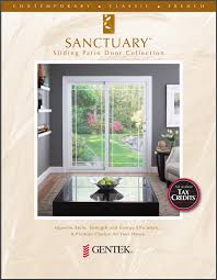 Gentek Patio Doors Gentek Building Products Sanctuary Sliding Patio Door Collection