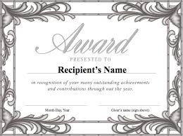 free formal award templates for students helloalive