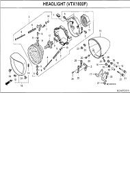 2007 honda vtx1800 vtx1800f3 headlight vtx1800f parts best oem