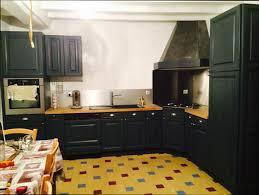cuisine repeinte en noir cool cuisine repeinte en noir id es de d coration paysage