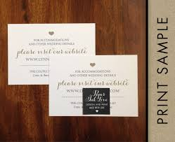 Wedding Registry Cards For Invitations Wedding Registry Cards Enclosure Cards Wedding Website Cards Or