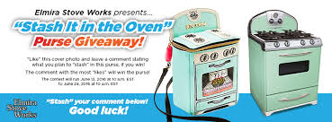 the u201cstash it in the oven u201d purse giveaway elmira stove works