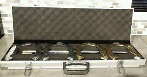 personalized horseshoe set buy school sports vintage 1980s gold chrome horseshoe set in