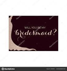 bridesmaid invitation card bridesmaid invitation card glittery dress stock vector sashica
