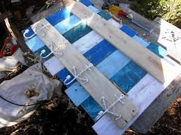 pallet coat rack inspired of coastal or beach decors