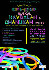 glow in the dark musical havdalah and chanukah candle lighting