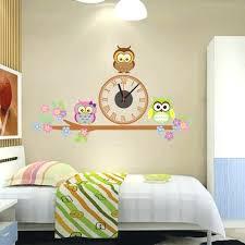 Free Shipping Home Decor Wall Clock 2017 Sale Owl Sticker Home Decor Electronic Diy