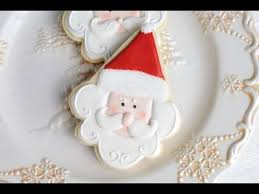 Decorating With Royal Icing Santa Cookies Decorated With Royal Icing Haniela U0027s Youtube