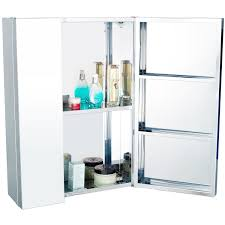 Stainless Steel Wall Cabinets Homcom Stainless Steel Wall Mounted Bathroom Mirror Storage