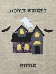 haunted house halloween embroidery diycandy com