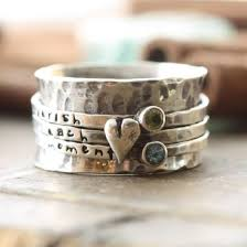 worry ring heart and spinner ring sted birthstone sterling