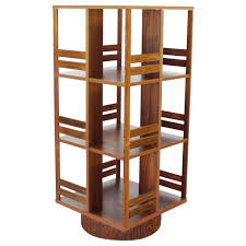 Oak Revolving Bookcase Danish Moden Rosewood Revolving Bookcase Record Cabinet Shelf At