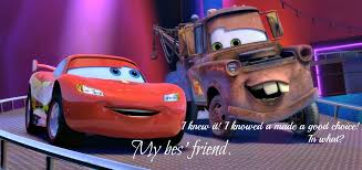 i knew i made a good choice lightning in what mater my best friend
