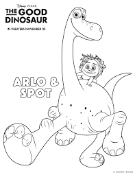 downloads the good dinosaur disney activity and coloring sheets