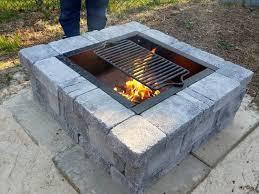 Rumblestone Fire Pit Insert by Pavestone Rumblestone 38 5 In X 14 In Square Concrete Fire Pit