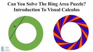 the amazing area of a ring puzzle vsauce u0027s napkin ring problem
