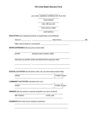 resume blank template blank resume form to fill out 2014freerun5