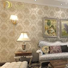 popular paper wall murals buy cheap paper wall murals lots from vintage luxury european khaki brown beige damask wallpaper for walls 3 d bedroom living room decor