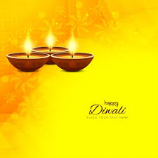 yellow background with ornaments for diwali vector free