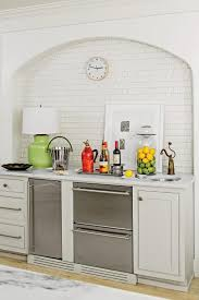 calm current natural kitchen southern living textured square tile bar area
