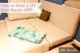 full sofa bed mattress make your own diy couch with help from little green bow