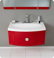 Vanity Folding Mirror 36 U201d Energia Fvn5092rd Red Modern Bathroom Vanity W Three Panel