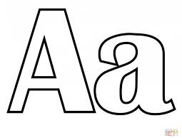 letter a is for ant coloring page printable pages click the