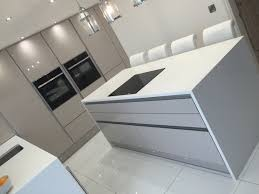the ba components zurfiz ultragloss cashmere kitchen doors used