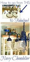 How To Make A Beaded Chandelier Spray Painting A Chandelier Navy Spray Painting Upcycle And Sprays
