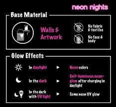 amazon com neon nights glow in the dark luminescent
