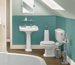 turquoise paneled walls in the bathroom with some antique glazing