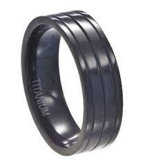 mens unique wedding ring black titanium wedding ring for men unique glossy ridges 7mm