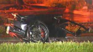 lamborghini crash lambo splits in half catches fire after early morning crash in