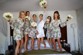 a little fun with the bride and her bridesmaids before a