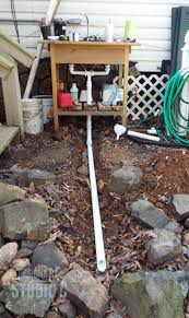 attractive outdoor kitchen sink drain