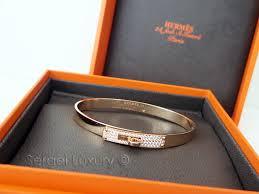 rose bangle bracelet images Love new authentic hermes kelly rose gold bangle bracelet half JPG