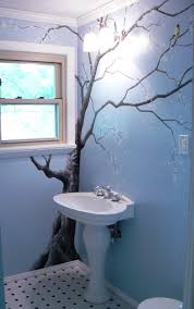 bathroom wall mural ideas wall color would be purple or whitish gray add apples