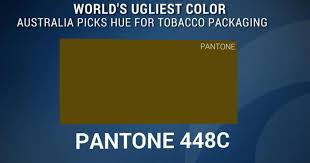 ugliest color in the world world s ugliest color plays role in anti smoking caign cbs news