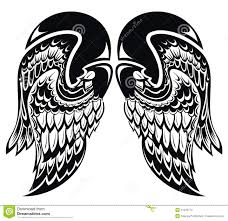 angel wings tattoo wings stock vector image 41643774