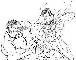 superman hulk ticodrawing deviantart