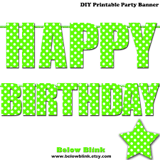 printable happy birthday banner letters birthday decoration