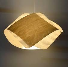 Wood Veneer Pendant Light Handmade Beautiful Wood Veneer Pendant L Nut