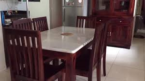 wooden dining table with marble top rightwood youtube
