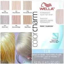 silver blonde color hair toner wella color charm toners color pinterest wella color charm